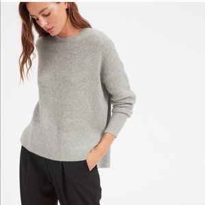 Everlane The Cashmere Waffle Square Crew Sweater